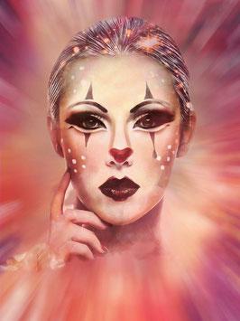 Figurative Kunst - FACE 4 -  FACES -Hochwertiger Kunstdruck auf Leinwand Gesicht