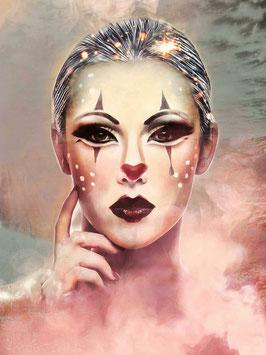 Figurative Kunst - FACE 5 -  FACES -Hochwertiger Kunstdruck auf Leinwand Gesicht