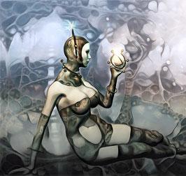 Steampunk - CYBERPUNK 3 -  Kunstdruck -Hochwertiger Kunstdruck auf Leinwand Cyberpunk