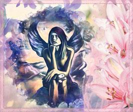 Zauberhafte Welten - ENGEL 2 -Magische Wesen - Kunstdruck -Hochwertiger Kunstdruck auf Leinwand Magie