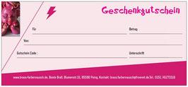 Geschenk Gutschein per Post Wert 25 Euro
