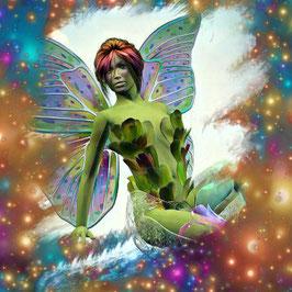 Zauberhafte Welten - ELFE 1 -Magische Wesen - Kunstdruck -Hochwertiger Kunstdruck auf Leinwand Magie