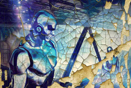 Fantasy - ROBOTO  1-Fantasy Kunstdruck -Hochwertiger Kunstdruck auf Leinwand Fantasy