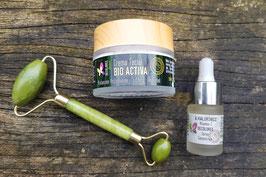 Pack Facial bio activo + rodillo de jade