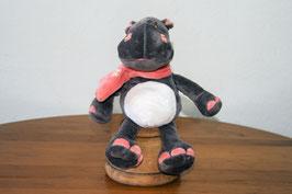 Hipopótamo con bufanda s