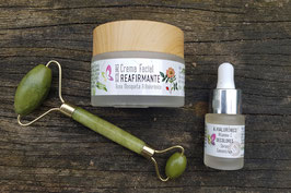 Pack Duo Facial Reafirmante + rodillo de jade