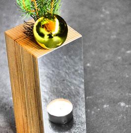 Vase/Kerze ZEBRO UNU SPEGULO
