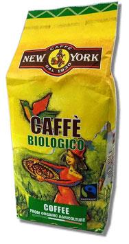 New York - Caffé Biologico und Fairtrade in ganzen Bohnen 1kg