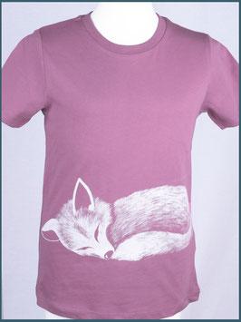 Kindershirt Biobaumwolle Mauve Fuchs