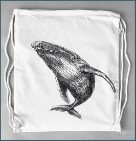 Rucksack Naturweiß Buckelwal