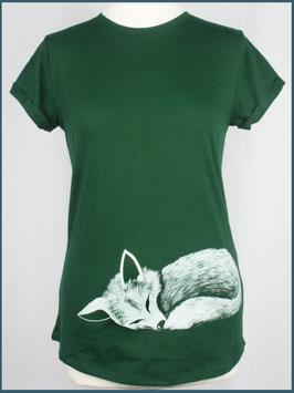 Grünes Recycled Rollsleeve Shirt Fuchs