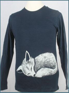 Kinder Langarmshirt Biobaumwolle navy Fuchs