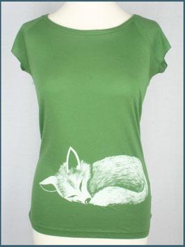 Blattgrünes Frauen Bambusshirt Fuchs
