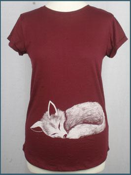 Weinrotes Recycled Rollsleeve Shirt Fuchs