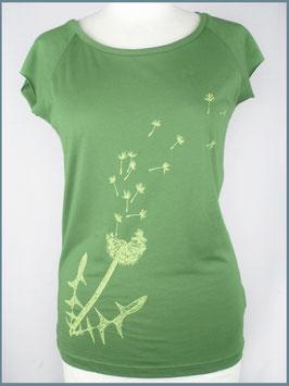 Blattgrünes Frauen Bambusshirt Pusteblume