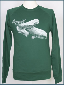 Recycle Grün Unisex Pullover Wale
