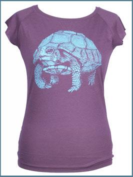 Aubergines Frauen Bambusshirt Schildkröte