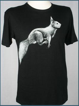 Schwarzes Herren Bambusshirt Eichhörnchen