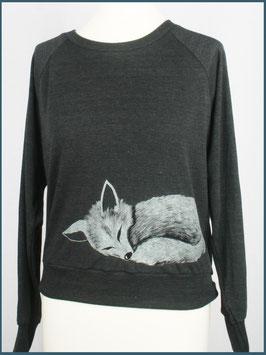 Leichter Frauenpullover dunkelgrau Fuchs