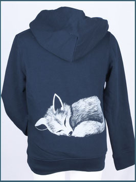 Kapuzenpullover Kind navy Fuchs