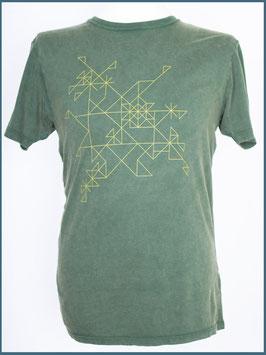 Grünes Herren Bio Baumwollshirt Muster