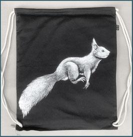 Rucksack schwarz Eichhörnchen