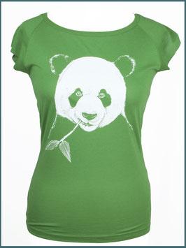 Blattgrünes Frauen Bambusshirt Panda