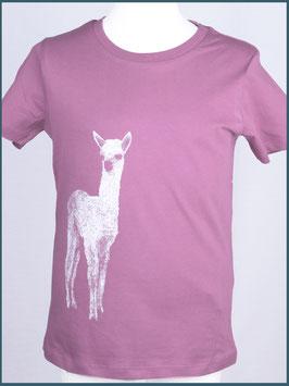 Kindershirt Biobaumwolle Mauve Alpaka