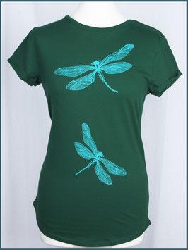 Grünes Recycled Rollsleeve Shirt Libelle