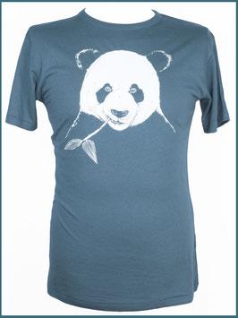 Denimblaues Herren Bambusshirt Panda