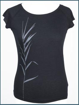 Schwarzes Frauen Bambusshirt Schilf