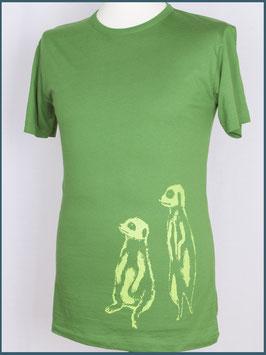 Blattgrünes Herren Bambusshirt Erdmännchen