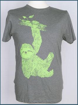 Graues Herren Recycle Shirt Faultier