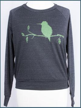 Leichter Frauenpullover dunkelgrau Eisvogel