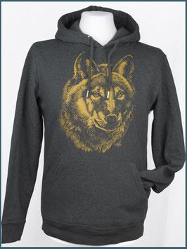 Kapuzenpulli Wolf, dunkelgrau