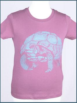 Kindershirt Biobaumwolle Mauve Schildkröte