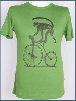 Blattgrünes Herren Bambusshirt Affe
