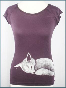 Aubergines Frauen Bambusshirt Fuchs