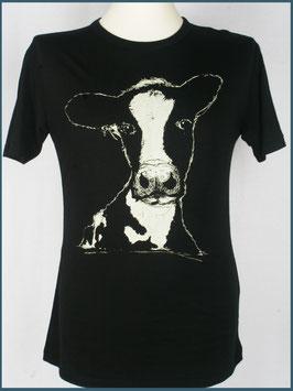 Schwarzes Herren Bambusshirt Kuh