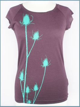Aubergines Frauen Bambusshirt Distel