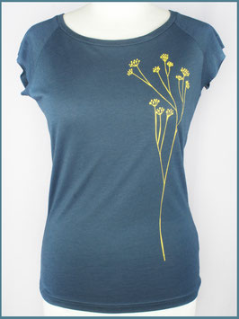 Denimblaues Frauen Bambusshirt Schafgarbe