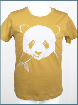 Kindershirt Biobaumwolle Senfgelb Panda