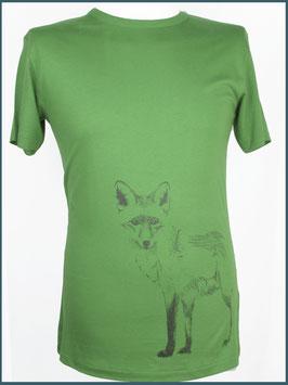 Blattgrünes Herren Bambusshirt Fuchs stehend
