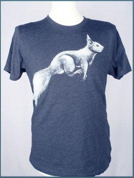 Navy Herren Recycle Shirt Eichhörnchen