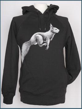 Kapuzenpulli Eichhörnchen, schwarz