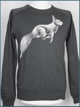 Recycle Dunkelgrau Unisex Pullover Eichhörnchen