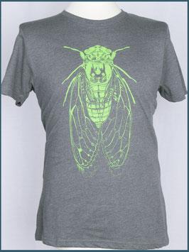 Graues Herren Recycle Shirt Zikade