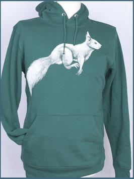 Kapuzenpulli Eichhörnchen, Grün