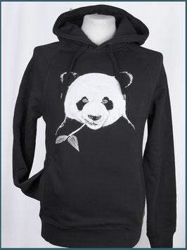 Kapuzenpulli Panda, Schwarz