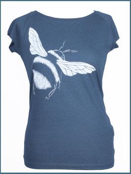 Denimblaues Frauen Bambusshirt Hummel